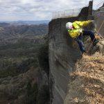 鋸山の絶壁でツタ剥がしプロジェクト!